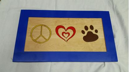 Picture of Peace, Love and Pets sign