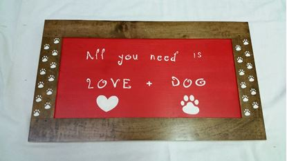 Picture of Love and Dogs Sign
