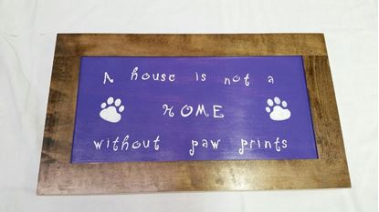 Picture of Paw Prints  sign