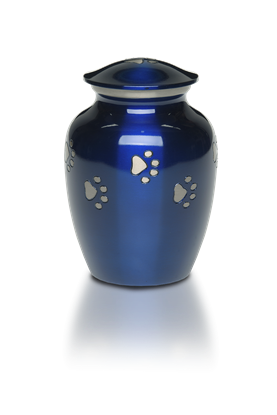 Picture of Classic Paw (Cobalt Blue) Urn